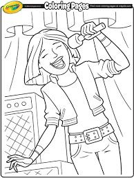 lead singer coloring page crayola com