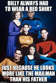 Redshirt Meme - the mailman delivered a red shirt imgflip