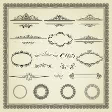 page ornaments and frame vector set ornament pixempire