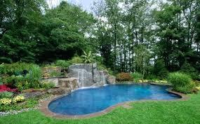 Backyard Pool Landscape Ideas Waterfall Landscaping Ideas Backyard Waterfall Landscaping