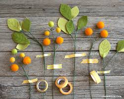 Billy Balls Felt Orange Ball Flowers And Leaves Lia Griffith
