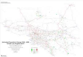 Map Of Los Angeles Metropolitan Area by Glama 1990