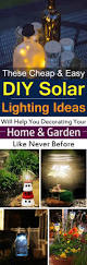 Decorating Your Home Ideas 28 Cheap U0026 Easy Diy Solar Light Projects For Home U0026 Garden