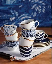 Coffee Set set of 4 selamlique turkish coffee cups mixed bleu