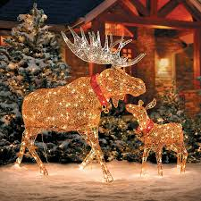 lighted dog christmas lawn ornament lighted glittering moose outdoor christmas decoration improvements