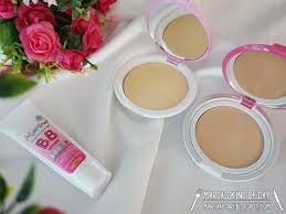 Bedak Marina marina smooth glow uv bb two way cake dan compact powder