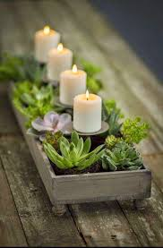 Candle Holders Decorated With Flowers How To Decorate The Rooms With Plants Box Plants And Gardens