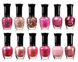 amazon com awesome pink colors assorted nail polish 12pc set