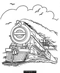 polar express coloring pages coloring page