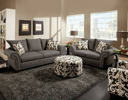 sofa loveseat and chair set jolanda collection cm6159gy furniture of america sofa loveseat set