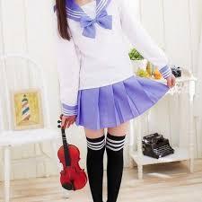 sailor blouse xs s m 2pc set pastel purple white sailor collar fuku