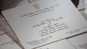 picture wedding invitations see royal wedding invitations embossed in gold cnn