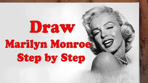 how to draw marilyn monroe step by step youtube