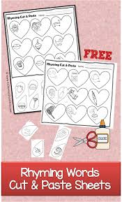 valentines day rhyming cut u0026 paste