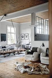 black and white comfortable stylish swedish home
