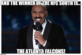 Falcons Memes - image tagged in steve harvey football winner miss universe atlanta