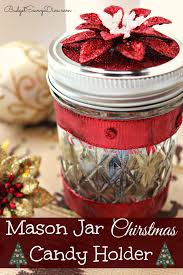 jar christmas candy holder