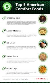 top 5 american comfort foods diet and nutrition infographics