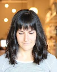 lob haircut with bangs 38 bob with bangs hairstyle ideas trending for 2018