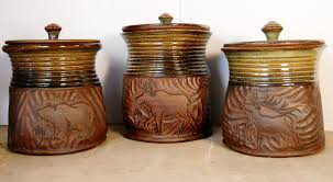pottery kitchen canister sets canister gulch pottery