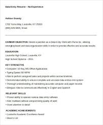 resume for data entry 28 images 10 data entry resume templates