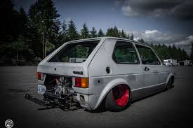 vw rabbit golf mk i sitting on custom beetle frame is a rear