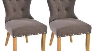 Buy Dining Chairs Spacious Grey Fabric Dining Chairs Buy The Safia Oak Leg At
