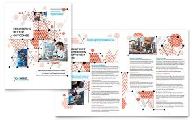technical brochure template technology business marketing brochures flyers