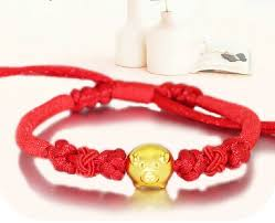 bracelet red images New arrival red colour string 999 3d 24k yellow gold 12 chinese jpg