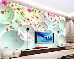wallpaper bunga lingkaran beibehang 3d wallpaper fantasy busana estetika indah wallpaper bunga