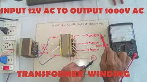 Jual Lu Dc 12 Volt input 12v ac to output 1000v ac step up transformer winding easy at