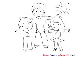 exercise kindergarten kids free coloring page