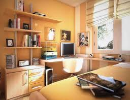 gorgeous study room furniture feat white wall units and metal