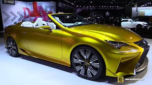 convertible lexus 2016 2016 lexus lf c2 concept exterior and interior walkaround