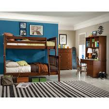 mission 3 piece twin over full bunk bed set with desk and hutch click to zoom