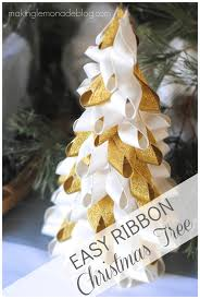 Ideas For Christmas Tree Ribbon by Christmas In A Minute Easy Ribbon Trees Making Lemonade