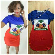 Kenya Flag Clothing Haitian Flag Shirt Dress
