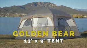 Tent Cabin by Golden Bear 13 U0027 X 9 U0027 Cabin Tent Youtube