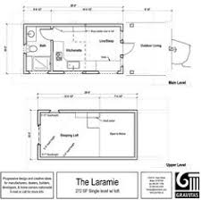 Tiny House Plans On Wheels Ynez Tiny House Floor Plan 2 600x209 Ynez Tiny House On Wheels By
