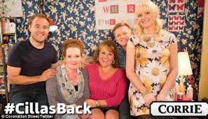 cilla battersby brown to return to coronation street with