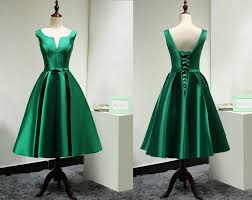 green wedding dress modest satin emerald green bridesmaid dress custom