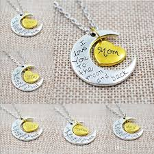 gifts necklace images Wholesale unique gifts vintage best friends family love moon love jpg
