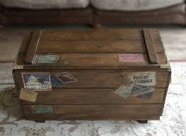 personalised steamer travel chest vintage storage trunk by