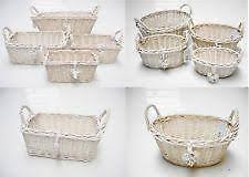 Shabby Chic Wire Basket by Shabby Chic Basket Ebay