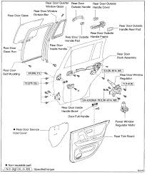 2002 Toyota Camry Interior Door Handle I Have A U002702 Highlander And The Small Piece Of The Right Rear Door