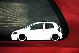 volkswagen fox 2006 lowered stanced car stickers based on various classic and modern