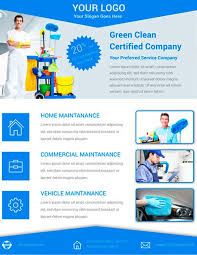 download free cleaning service flyer psd template for photoshop