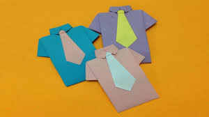 how to make paper shirt and neck tie easy origami shirts for