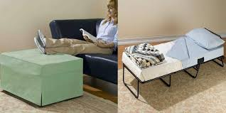 Pull Out Ottoman Bed Ottoman That Doubles As A Memory Foam Pull Out Bed
