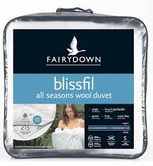 All Seasons Duvet Double Buy Fairydown Blissfil All Seasons Wool Duvet Inner Duvet Inners